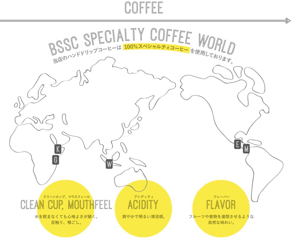 世界から厳選したコーヒー豆を使用